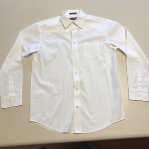 Chaps white button down long sleeve shirt-Size 14